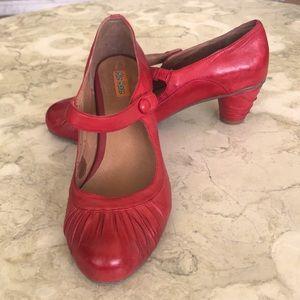 Miz Mooz Rita Leather Mary-Jane Chunky Heel Pumps